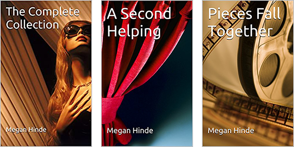 3 book covers: The Complete Collection, A Second Helping, and Pieces Fall Together