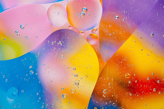 Photo of colorful bubbles